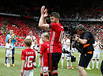 Michael Carrick walks out with his children during the Michael Carrick Testimonial match at the Old Trafford Stadium, Manchester. Picture date: June 4th 2017. Picture credit should read: Simon Bellis/Sportimage