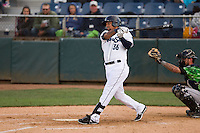 Everett Aquasox outfielder Corey Simpson (36) at bat during a game against the Eugene Emeralds at Everett Memorial Stadium in Everett, Washington.  Eugene defeated Everett 7-5. (Ronnie Allen/Four Seam Images)