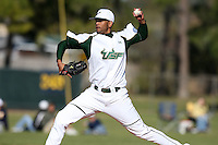 February 28, 2010:  Pitcher Andrew Barbosa of the South Florida University Bulls during the Big East/Big 10 Challenge at Raymond Naimoli Complex in St. Petersburg, FL.  Photo By Mike Janes/Four Seam Images
