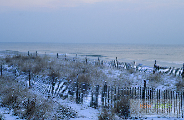 Sand Dune fencing,  Long Beach Island, New Jersey