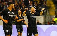 celebrate the goal, Torjubel zum 1:0 von Filip Kostic (Eintracht Frankfurt) - 18.04.2019: Eintracht Frankfurt vs. Benfica Lissabon, UEFA Europa League, Viertelfinale, Commerzbank ArenaDISCLAIMER: DFL regulations prohibit any use of photographs as image sequences and/or quasi-video.