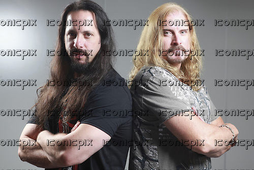 DREAM THEATER - John Petrucci and James LaBrie - Photosession in Paris France - 19 Aug 2013.  Photo credit: Manon Violence/Dalle/IconicPix