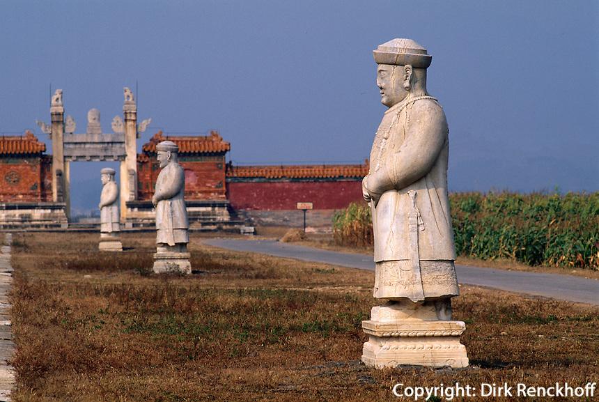 Geisterallee Grab Xiao Ling östliche Qinggräber (QingDongLing) bei Peking, China, Unesco-Weltkulturerbe