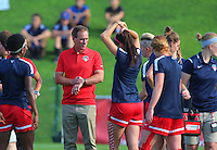 Boyds, MD - Saturday July 09, 2016: Jim Gabarra prior to a regular season National Women's Soccer League (NWSL) match between the Washington Spirit and the Chicago Red Stars at Maureen Hendricks Field, Maryland SoccerPlex.