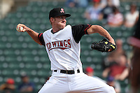 Rochester Red Wings pitcher Cole DeVries #21 during a game against the Norfolk Tides at Frontier Field on June 5, 2011 in Rochester, New York.  Norfolk defeated Rochester 11-5 in eleven innings.  Photo By Mike Janes/Four Seam Images