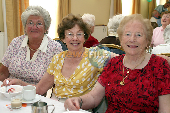 Nancy Carroll, Nuala Breen and Bridie Monaghan at the Senior Citizens Summer Party...Photo NEWSFILE/Jenny Matthews.(Photo credit should read Jenny Matthews/NEWSFILE)....This Picture has been sent you under the condtions enclosed by:.Newsfile Ltd..The Studio,.Millmount Abbey,.Drogheda,.Co Meath..Ireland..Tel: +353(0)41-9871240.Fax: +353(0)41-9871260.GSM: +353(0)86-2500958.email: pictures@newsfile.ie.www.newsfile.ie.FTP: 193.120.102.198.