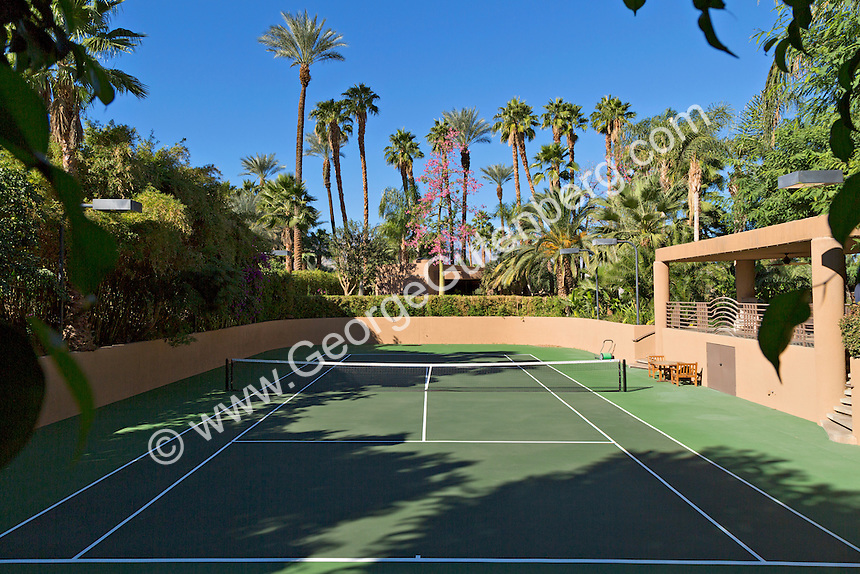 Private tennis court