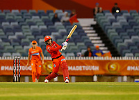 1st November 2019; Western Australia Cricket Association Ground, Perth, Western Australia, Australia; Womens Big Bash League Cricket, Perth Scorchers versus Melbourne Renegades; Danielle Wyatt of the Melbourne Renegades hits to long off during her innings to bring up her 50
