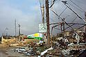 Iraq 2015 On november 17, in the suburbs of Sinjar, few days after Kurdish and Yezidis fighters retook the city from ISIS,the Kurdish flag fluttering in the wind<br /> Irak 2015 Le 17 novembre dans les faubourgs de Sinjari, quelques jours apres la liberation de la ville par les combattants kurdes et yezidis, le drapeau kurde flotte au vent