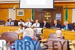 Inspector Mike Fleming, Superintendent Fearghal Pattwell, Superintendent Flor Murphy, Chief Superintendent Eileen Foster, Cllr Niall Kelleher, Charlie O'Sullivan (KCC), Christy O'Connor (KCC)