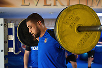 Taulupe Faletau of Bath Rugby in the gym. Bath Rugby pre-season training on July 2, 2018 at Farleigh House in Bath, England. Photo by: Patrick Khachfe / Onside Images