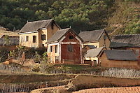 Houses in the hills near to the capital city Antananarivo, Madagascar
