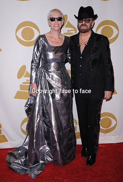 LOS ANGELES, CA - JANUARY 27:  Annie Lennox and Dave Stewart of Eurythmics reunite at &quot;The Night That Changed America: A Grammy Salute to The Beatles&quot; at the Los Angeles Convention Center West Hall on January 27, 2014 in Los Angeles, California. <br />