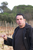 Jean-Baptiste Senat Domaine Jean Baptiste Senat. In Trausse. Minervois. Languedoc. Owner winemaker. France. Europe.