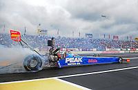 Jun. 1, 2012; Englishtown, NJ, USA: NHRA top fuel dragster driver T.J. Zizzo during qualifying for the Supernationals at Raceway Park. Mandatory Credit: Mark J. Rebilas-