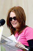 """Actress Julianne Moore speaks at the """"March for Women's Lives"""" in Washington, DC on April 25, 2004..Credit: Ron Sachs / CNP"""