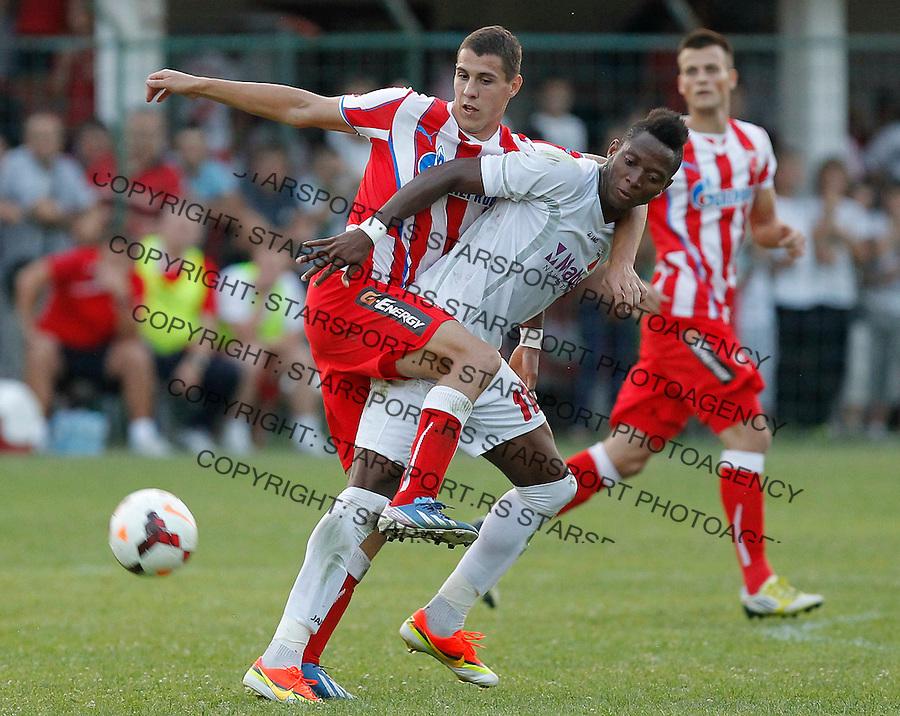 Fudbal Super liga season 2013-2014<br /> Javor v Crvena Zvezda <br /> Darko Lazic and Ifeanyi Onyilo<br /> Beograd, 11.08.2013.<br /> foto: Srdjan Stevanovic/Starsportphoto &copy;