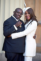 27 October 2016 - London, England - Naomi Campbell with Edward Enninful after receiving his Officer of the Order of the British Empire (OBE) at Buckingham Palace in London. Photo Credit: Alpha Press/AdMedia