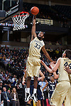 Aaron Rountree III (33) of the Wake Forest Demon Deacons dunks the basketball during first half action against the Mount St. Mary's Mountaineers at the LJVM Coliseum on November 26, 2014 in Winston-Salem, North Carolina.  The Demon Deacons defeated the Mountaineers 83-49.   (Brian Westerholt/Sports On Film)