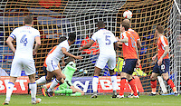 Matt Green of Mansfield Town watches his headed attempt fly into the back of the net to put his side in the lead during the Sky Bet League 2 match between Luton Town and Mansfield Town at Kenilworth Road, Luton, England on 22 October 2016. Photo by Liam Smith.