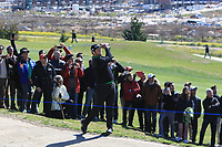 Jon Rahm (ESP) in the rough on the 4th during Round 1 of the Open de Espana 2018 at Centro Nacional de Golf on Thursday 12th April 2018.<br /> Picture:  Thos Caffrey / www.golffile.ie<br /> <br /> All photo usage must carry mandatory copyright credit (&copy; Golffile | Thos Caffrey)