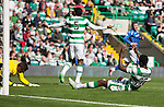 Celtic v St Johnstone...29.08.15  SPFL   Celtic Park<br /> Dedrick Boyata reacts after scoring the own goal<br /> Picture by Graeme Hart.<br /> Copyright Perthshire Picture Agency<br /> Tel: 01738 623350  Mobile: 07990 594431
