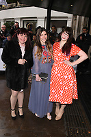LONDON, UK. March 12, 2019: Briony Williams, Manon Lagreve and Kim-Joy  arriving for the TRIC Awards 2019 at the Grosvenor House Hotel, London.<br /> Picture: Steve Vas/Featureflash