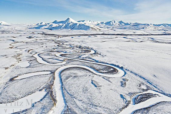 Blackstone River meanders across Blackstone Uplands, Tombstone Territorial Park, Yukon