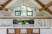 BNPS.co.uk (01202 558833)<br /> Pic: MrAndMrsClarke/BNPS<br /> <br /> The kitchen. <br /> <br /> A luxury house on an English country estate where the Allies plotted the infamous assassination of one of Adolf Hitler's top henchmen has gone on the market.<br /> <br /> Rooftops, a Norwegian-style chalet, is located on the Moreton Paddox estate in Warwickshire where 4,000 Czech soldiers were billeted during the Second World War.<br /> <br /> The plot to assasinate Nazi monster SS General Reinhard Heydrich involved two Czech soldiers who parachuted into Prague where they attacked and killed him as he was driven to work. <br /> <br /> His death led to appalling Nazi reprisals on locals, with more than 1,300 men, women and children massacred.<br /> <br /> The Edwardian mansion at Moreton Paddox that was requisitioned for the war effort was later demolished and Rooftops was built on the grounds in 2009.
