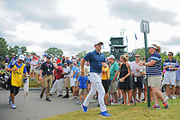 Rory McIlroy (NIR) approaches the 11th tee during Sunday's final round of the PGA Championship at the Quail Hollow Club in Charlotte, North Carolina. 8/13/2017.<br /> Picture: Golffile | Ken Murray<br /> <br /> <br /> All photo usage must carry mandatory copyright credit (&copy; Golffile | Ken Murray)