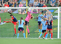 Boyds, MD - Saturday June 25, 2016: Caroline Stanley, Tasha Kai during a United States National Women's Soccer League (NWSL) match between the Washington Spirit and Sky Blue FC at Maureen Hendricks Field, Maryland SoccerPlex.