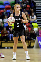 20.01.2018 Samantha Sinclair of Silver Ferns during the Netball Quad Series netball match between England Roses and Silver Ferns at the Copper Box Arena in London. Mandatory Photo Credit: ©Ben Queenborough/Michael Bradley Photography