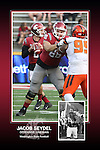 Memorabilia print for Jacob Seydel from the 2015 Washington State football season in which the Cougs went 9-4, including a Sun Bowl victory over the Miami Hurricanes.