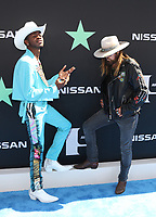 LOS ANGELES, CA - JUNE 23: Lil Nas X and Billy Ray Cyrus at the 2019 BET Awards at the Microsoft Theater in Los Angeles on June 23, 2019. Credit: Walik Goshorn/MediaPunch