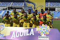 SANTA MARTA - COLOMBIA, 20-07-2019: Unión Magdalena y Atlético Huila en partido por la fecha 2, cuadrangulares semifinales, de la Liga Águila II 2019 jugado en el estadio Sierra Nevada de la ciudad de Santa Marta. / Union Magdalena and Atletico Huila in match for the date 5 of the semifinal quadrangular as part Aguila League II 2019 played at Sierra Nevada stadium in Santa Marta city. Photo: VizzorImage / Gustavo Pacheco / Cont