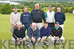 2057-2061.GOLF: The Glengarriff Golf Club Team who competed in the Pierce Purcell Shield Tournament in Killorglin last Saturday morning. Front row l-r: Sean Hurley, Eddie Mullins, PJ Healy and Aidan Twomey. Back row l-r: Ger Galvin, William Creedon, Joe OLeary, Dan Kearney and Brendan OSullivan. ....