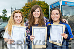 Orla Cagney, Karen Palmer and Sinead Moriarty who were delighted to collect their Leaving Cert results in St Brigids Presentation Killarney on Wednesday