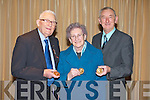 MEDALS: Member's of St Vincent de Paul who received their services medals at the Carlton hotel, Tralee on Sunday l-r: Paddy Ryan, Killarney (63 years service), Breda Brodrick, Milltown (40 years service) and Jim Cronin (58 years service).