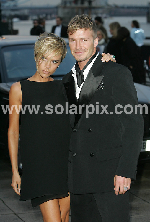 **ALL ROUND PICTURES FROM SOLARPIX.COM**.**NO UK NEWSPAPER PUBLICATION **UK MAGAZINE PUBLICATION ONLY** AND NO PUBLICATION IN FRANCE, SCANDINAVIA, AUSTRALIA AND GERMANY** .David and Victoria Beckham arrive for the Sport Industry Awards at Old Billingsgate Market in london tonight..JOB REF: 3624        SFE       DATE: 29.03.07.**MUST CREDIT SOLARPIX.COM OR DOUBLE FEE WILL BE CHARGED* *UNDER NO CIRCUMSTANCES IS THIS IMAGE TO BE REPRODUCED FOR ANY ONLINE EDITION WITHOUT PRIOR PERMISSION*