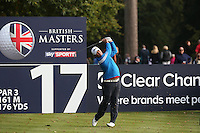 Mikael Lundberg (SWE) in action during the Final Round of the British Masters 2015 supported by SkySports played on the Marquess Course at Woburn Golf Club, Little Brickhill, Milton Keynes, England.  11/10/2015. Picture: Golffile | David Lloyd<br /> <br /> All photos usage must carry mandatory copyright credit (© Golffile | David Lloyd)