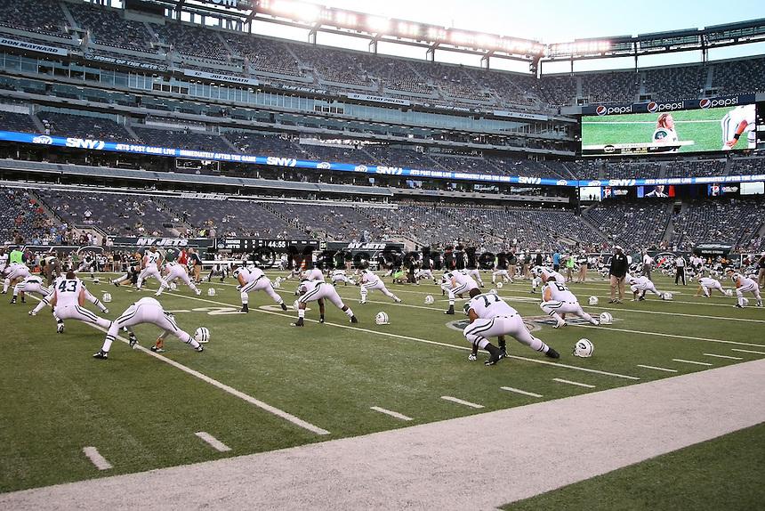 New York Jets machen sich warm
