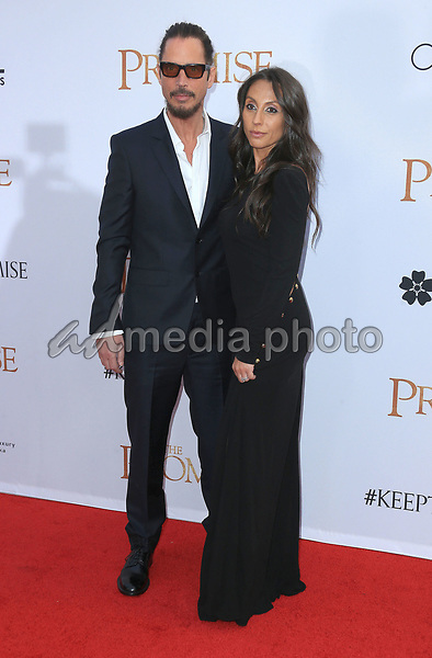 """12 April 2017 - Hollywood, California - Chris Cornell, Vicky Karayiannis. Premiere Of Open Road Films' """"The Promise"""" held at TCL Chinese Theatre. Photo Credit: AdMedia"""