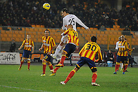 """Il gol di Miroslav KLOSE Lazio 2-3.Goal Celebration.Lecce 10/12/2011 Stadio """"Via del MAre"""".Football Calcio Serie A 2011/2012.Lecce Vs Lazio.Foto Insidefoto ."""