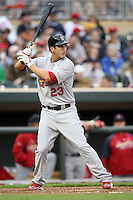 April 2, 2010: David Freese of the St. Louis Cardinals in the first professional baseball game played at the Minnesota Twins new home, Target Field. Photo by: Chris Proctor/Four Seam Images