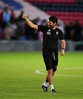 Lincoln City manager Danny Cowley applauds the fans at the final whistle<br /> <br /> Photographer Chris Vaughan/CameraSport<br /> <br /> Football Pre-Season Friendly - Lincoln City v Sheffield Wednesday - Friday 13th July 2018 - Sincil Bank - Lincoln<br /> <br /> World Copyright &copy; 2018 CameraSport. All rights reserved. 43 Linden Ave. Countesthorpe. Leicester. England. LE8 5PG - Tel: +44 (0) 116 277 4147 - admin@camerasport.com - www.camerasport.com