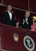 United States President George W. Bush and Vice President Dick Cheney attend the Kennedy Center Honors at the John F. Kennedy Center for the Performing Arts in Washington, on December 4, 2005. .Credit: Katie Falkenberg - Pool via CNP