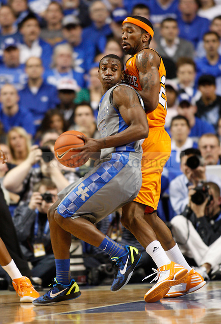 UK's Marquis Teague looks to get to the basket against Tennessee at Rupp Arena on Tuesday, Jan. 31, 2012. Photo by Scott Hannigan | Staff