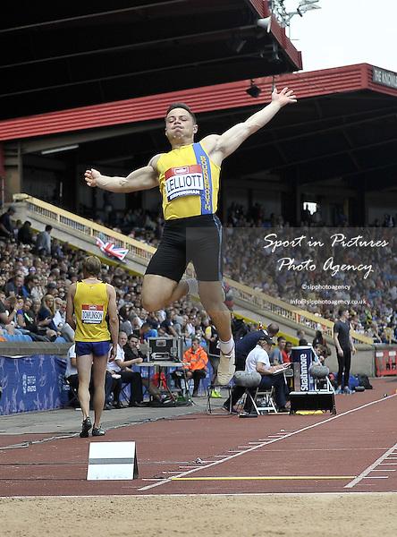 James Lelliott (Bournemouth). Mens long jump. British Athletics Championships. Alexander Stadium. Birmingham. UK. 26/06/2016. ~ MANDATORY CREDIT Garry Bowden/SIPPA - NO UNAUTHORISED USE - +447837 394578