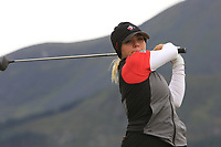 Brigitte Thibault (CAN) on the 2nd tee during Round 2 of the Women's Amateur Championship at Royal County Down Golf Club in Newcastle Co. Down on Wednesday 12th June 2019.<br /> Picture:  Thos Caffrey / www.golffile.ie