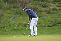 Ricardo Gouveia (POR) on the 1st green during Round 4 of the Open de Espana 2018 at Centro Nacional de Golf on Sunday 15th April 2018.<br /> Picture:  Thos Caffrey / www.golffile.ie<br /> <br /> All photo usage must carry mandatory copyright credit (&copy; Golffile | Thos Caffrey)